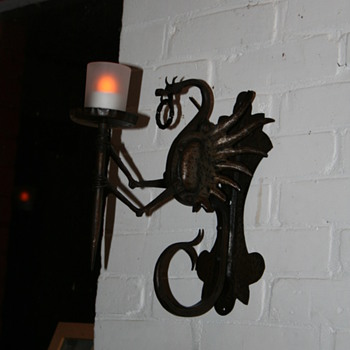 Dragon wall light.
