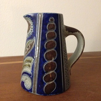 Miniature Stoneware Art Nouveau Ewer - Art Pottery