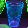 "6"" blue tumbler fluoresces under BL!"