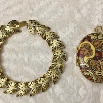 Bracelet and locket - Costume Jewelry