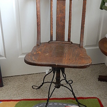 Antique wooden desk chair