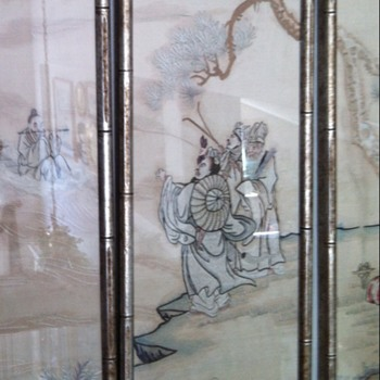 Japan~ All hand sewn four panel story art - Asian