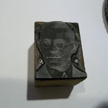 Vintage Woodrow Wilson Printers Block - Office