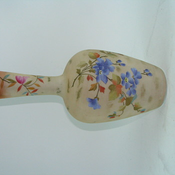 Large Austria Vienna Painted Glass Vase