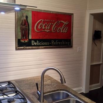 """Coca Cola 1936 """"Bulletin"""" Metal Sign - Coca-Cola"""