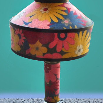 Psychedelic Flower Power Lamp with Sad History - Lamps
