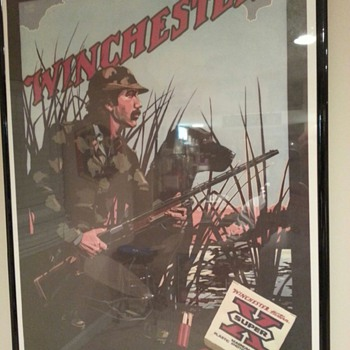 Winchester poster &quot;the Duck Hunter&quot; 1981