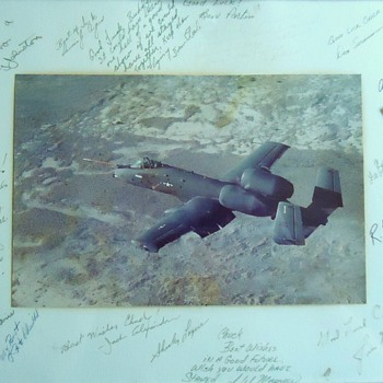 Military autographs? Farewell party to Chuck Yeager? Plane is what?