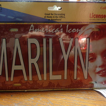 Marilyn Monroe Americas Icon 12-x-6 Metal Sign License Plate  - Advertising