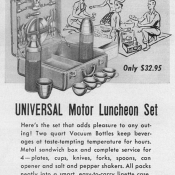 1953 - Universal Motor Lunch Kit Advertisement - Advertising