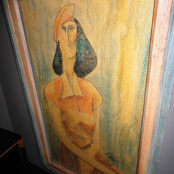 Seated Lady on Giclee - Visual Art