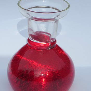 Ruby Red Controlled Bubble Candle Holder