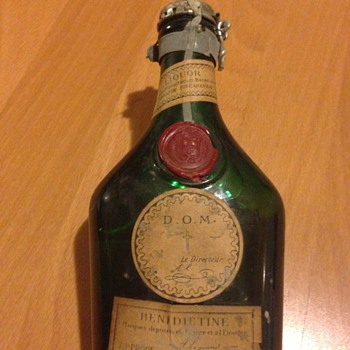 Old bottle of benedictine D.O.M France