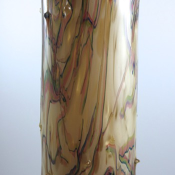 Thorn vase, mottled with gold aventurine, ca. 1900 - Art Glass