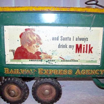 Buddy l truck. Railway express agency  .... Santa truck. 1949  - Model Cars