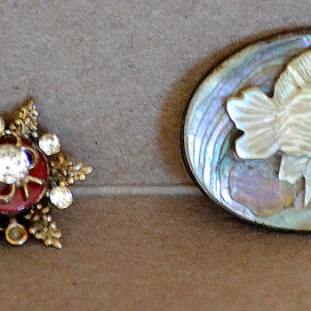 Abalone Brooch and Have No Idea on the Other! - Costume Jewelry
