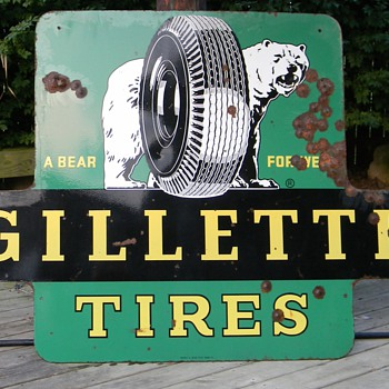 Vintage Gillette Tire sign - Signs