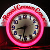 1950&#039;s Royal Crown Cola Neon Clock...Cleveland Clock