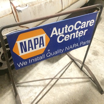 1972 Napa double sided sidewalk sign