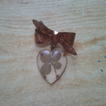 Costume Jewelry Four Leaf Clover Brooch