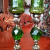 Emerald Green Candle Holders