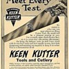 1914 Keen Kutter Saw Ad