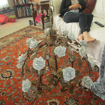 My ornate white rose chandelier