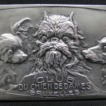 Belgian Dog Club Silvered Bronze Medal - Club De Chien De Dames Bruxelles