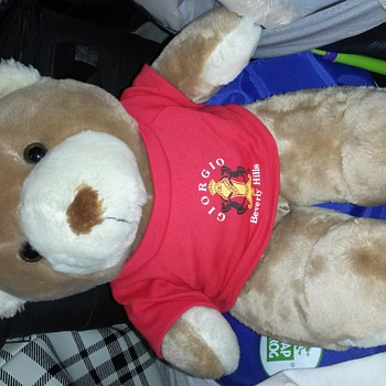 Giorgio Beverly Hills limited edition 1990 teddy bear with t shirt and tag. I can't find another this year to compare it to.
