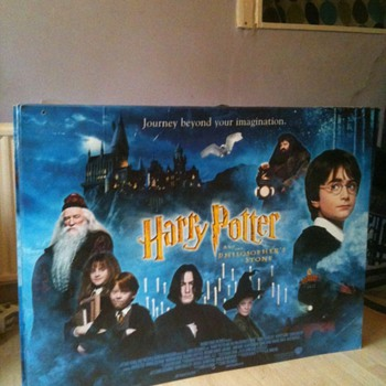 A Original Harry Potter and the philosopher's Stone cinema poster - Posters and Prints