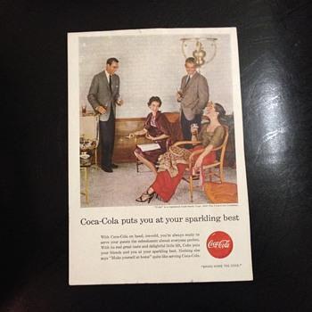 Coca Cola Paper Advertising
