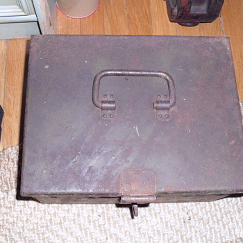Military box made of metal.