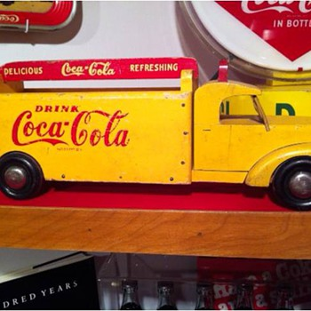 Great Vintage Wooden Coca-Cola Toy Truck - Coca-Cola