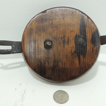 Early Hasp and Cap (from a large round barrel or keg)