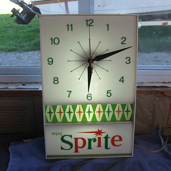 1960's SPRITE CLOCK