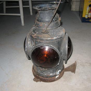 Old Railroad Engine Oil Light by Handlan ST. Louis USA - Railroadiana