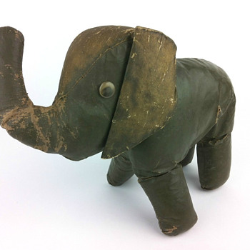 Well-loved Oilcloth Elephant