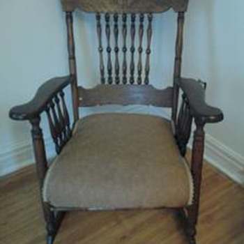 mystery antique rocking chair