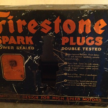 1940's Firestone Spark Plug sign/display? - Signs