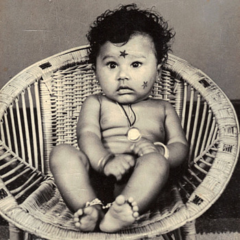 Vintage Indian Baby Photo - Photographs