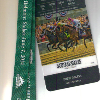 BELMONT STAKES California Chrome Clubhouse Pass - Animals