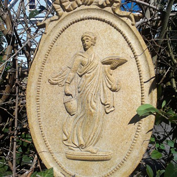 Grecian Goddess Metal Garden Plaque