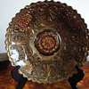 "Depression glass 10"" dish"