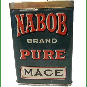 Vintage NABOB TIN - Spice Tin - Canada - Advertising