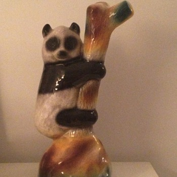 Wonderful bamboo vase with panda