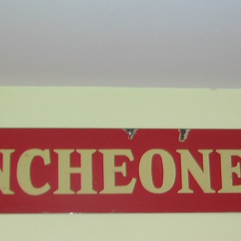 luncheonette sign - metal