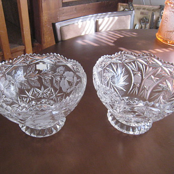 Footed Crystal Bowls - Glassware