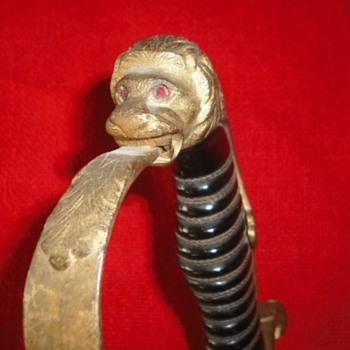 German Artillery Officer's Lion Head Sword
