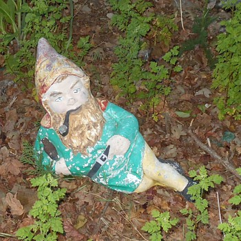 Vintage Concrete Yard Gnome - Figurines
