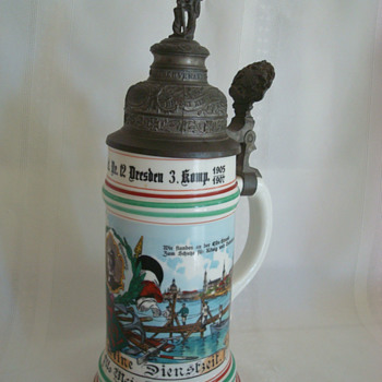 Imperial German Reservist's Stein of Pionier Otto Weinhardt, Saxon 12th Pionier Regiment